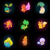 Glow Pokemon