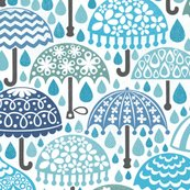 Vintage Brollies in Downpour
