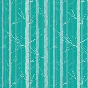 Birch Trees - tourqoise
