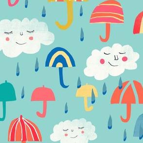 it's raining umbrellas