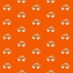 Vroom - White on Orange