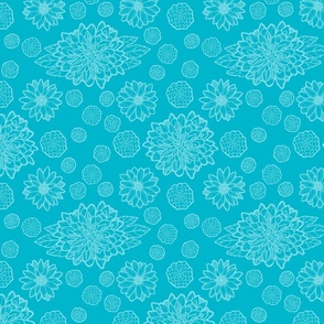 Blue Chrysanthemum Floral
