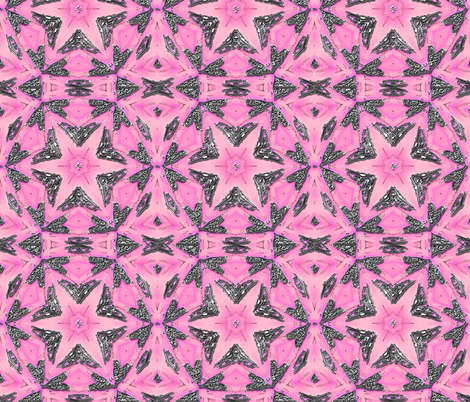 Pink and Silver Watercolor Star