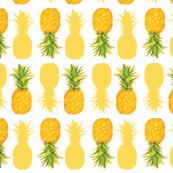 Pineapples On White