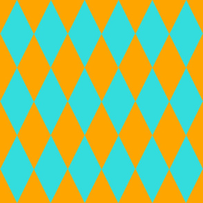 ARGYLE ORANGE & TURQUOISE
