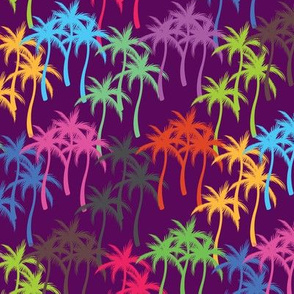 Colourful Palm Trees #4