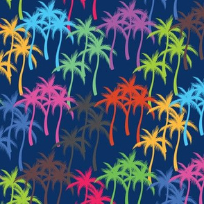 Colourful Palm Trees #6