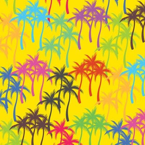 Colourful Palm Trees #5