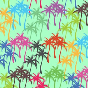 Colourful Palm Trees #8