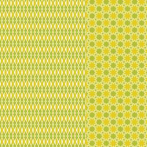 4 designs per yard -- green