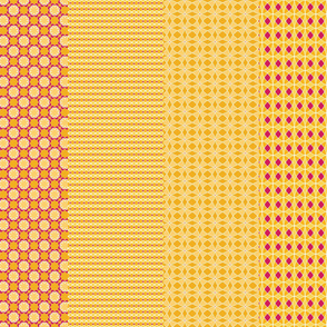4 designs per yard -- orange