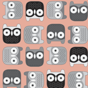 Peachy Block Owls