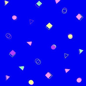 Retro shapes  (blue)