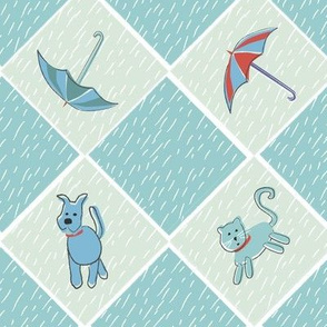 Raining Cats, Dogs + Umbrellas