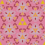 Ornate Triforce Pink