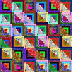 Log Cabin Quilt So Colorful