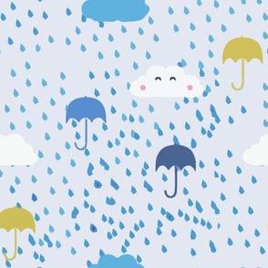 Umbrellas & Raindrops