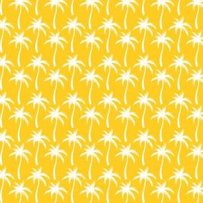 Palm Trees White On Orange