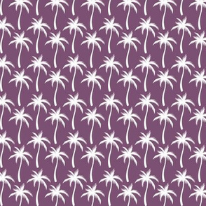 Palm Trees White On Purple #2