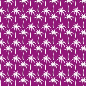 Palm Trees White On Purple #3