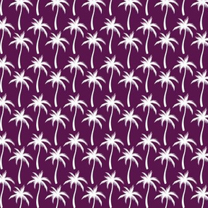 Palm Trees White On Purple #4