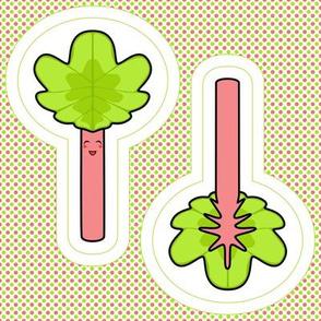 Rhubarb swatch toy