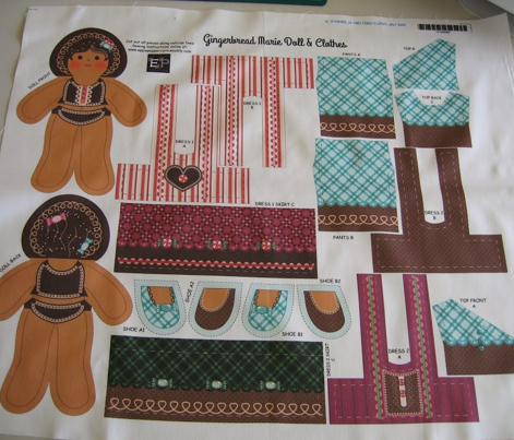 Gingerbread Doll & Clothes
