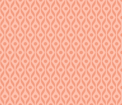Ribbon and Dot Dance - Coral