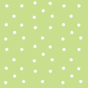 Polka Dots-kiwi/white