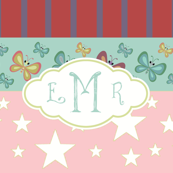 Magic-butterflie rainbow LG - pink personalized