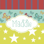 Magic-butterflie rainbow LG - gold personalized