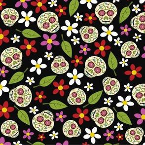 Calaveras Floral Skull Pattern