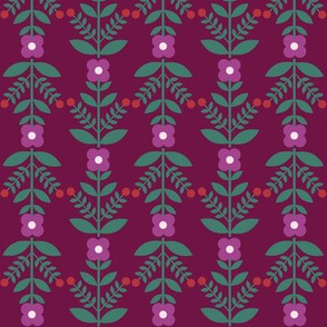 tick tock flowers - berry