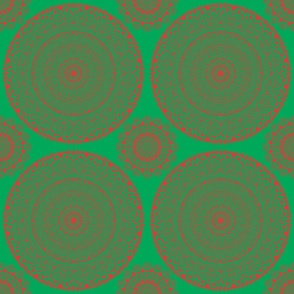 Christmas Mandala Red & Green