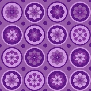 Purple Flower Dots