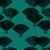 Imperial green fan