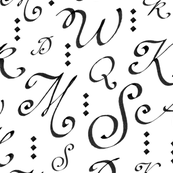 Calligraphy - Letters and Diamonds