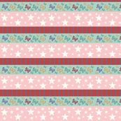 butterflie rainbow MED - pink