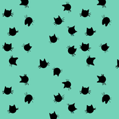 Scatter Cats (teal)