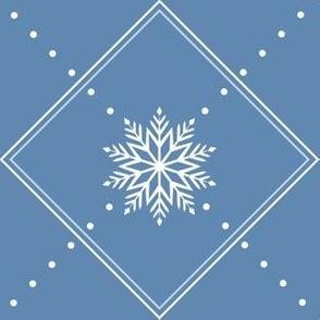 Soft Diamond Snowflakes