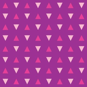 Purple and Pink Triangles