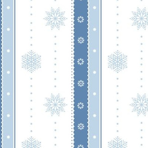 Snowflakes and Ribbons