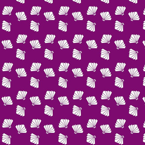Falling Fans in Imperial Purple