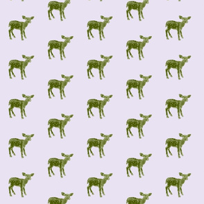 Dear Deer in Olive on Grey