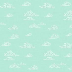 Oriental Clouds in Mint