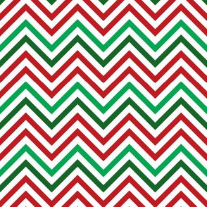 Thin Chevrons - Christmas