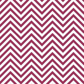 Thin Chevrons - Sangria on White