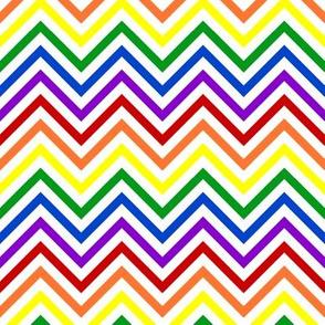 Thin Chevrons - Bold Rainbow
