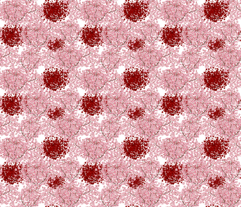 Tiny Cherry Blossoms - Pink and Red