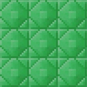 Pixelated Emerald Blocks - Small